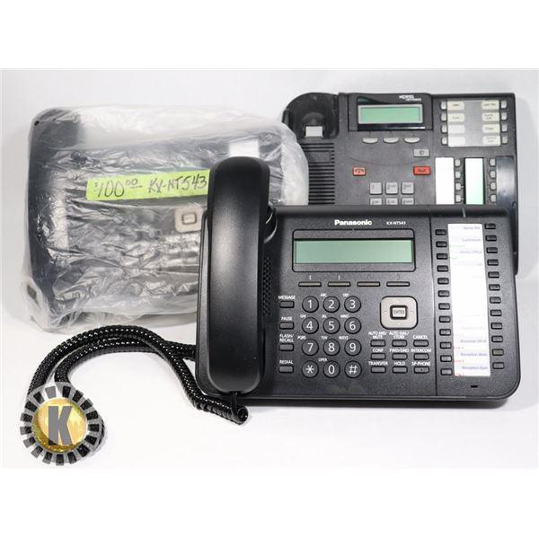 2 PANASONIC KX-NT543 PROPRIETARY TELEPHONE & MORE
