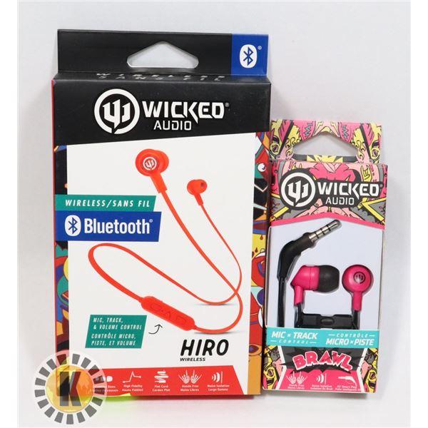 WICKED AUDIO HIRO AND BRAWL HEADPHONES