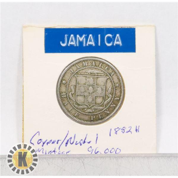 4)  JAMAICA 1882H HALF PENNY.