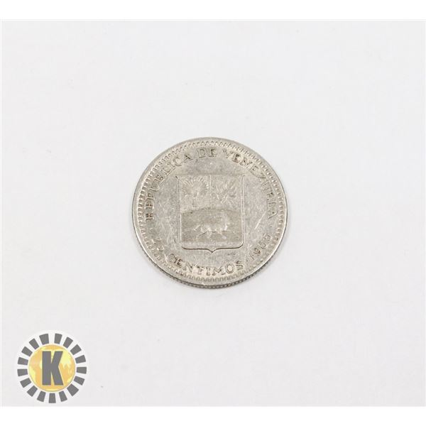 5)  FROM VENEZUELA 25 CENTIMOS FROM 1965.