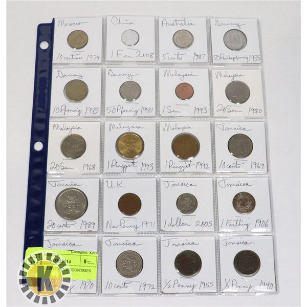20 COINS 7 DIFFERENT COUNTRIES