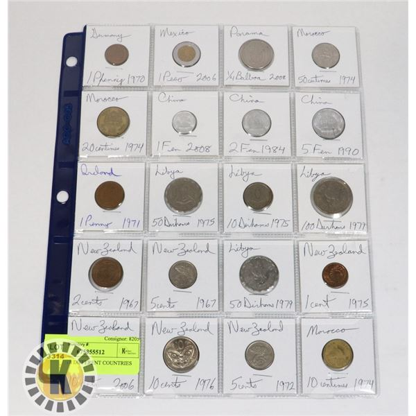 20 COINS 8 DIFFERENT COUNTRIES