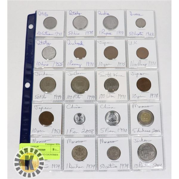 20 COINS 10 DIFFERENT COUNTRIES