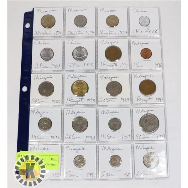 20 COINS 3 DIFFERENT COUNTRIES
