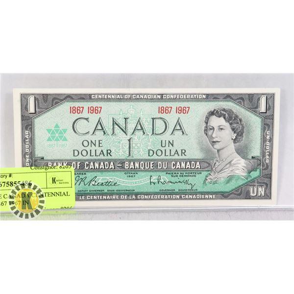 1 BANKNOTE CANADA CENTENNIAL 1 DOLLAR 1867 1967 IN