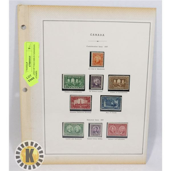 BUNDLE OF VALUABLE CANADIAN STAMPS