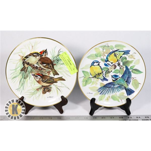 1985 AND 1986 WORLD WILDLIFE PLATE WITH STANCE