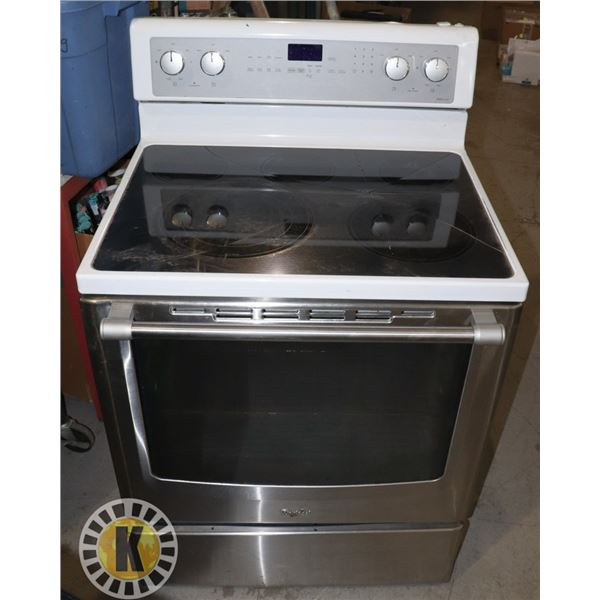 GLASS TOP STOVE (CRACKED TOP, NON MATCHING PARTS)