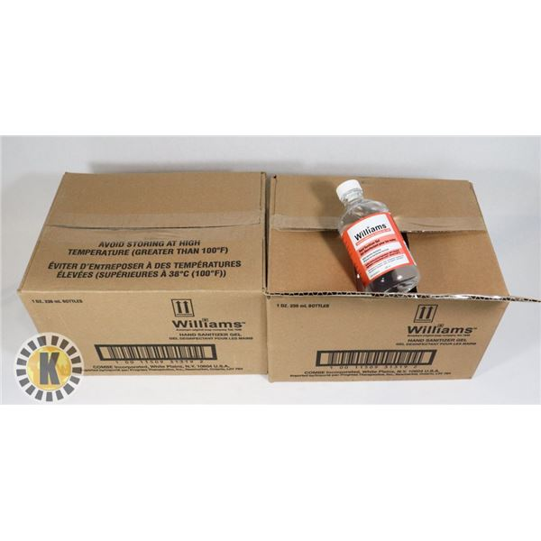 TWO CASES OF WILLIAMS HAND SANITIZER GEL