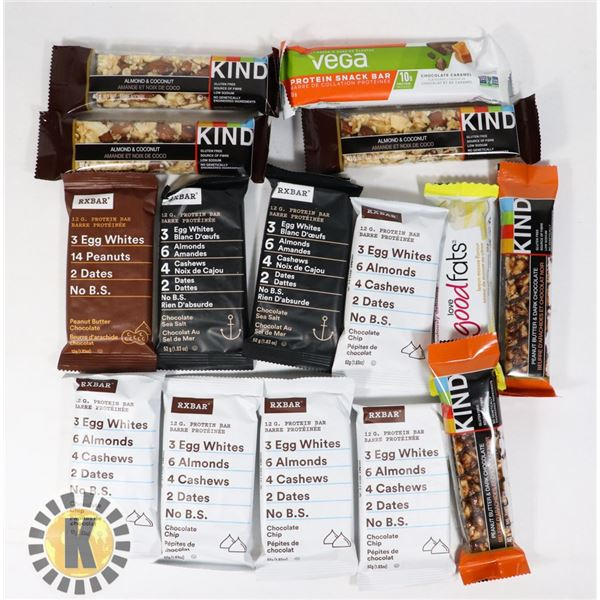 BAG OF ASSORTED NUTRITION BARS