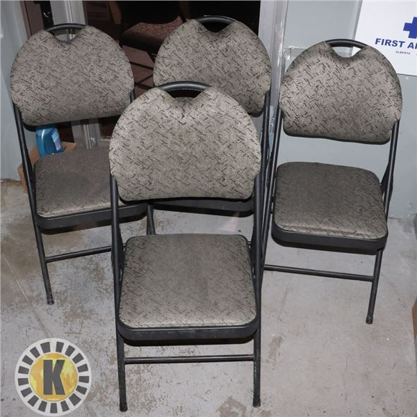 LOT OF 4 FOLDING CHAIRS
