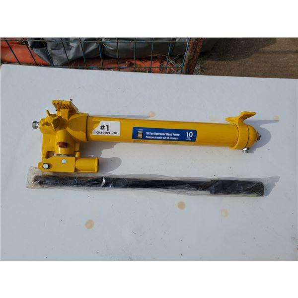 unused powerfist 10 ton hydraulic hand pump