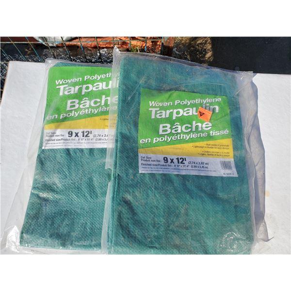 2 new 9 x 12' tarps