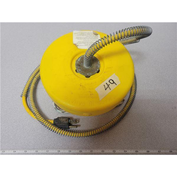 Electric trough heater