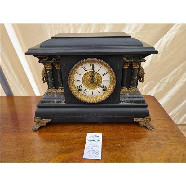 Antique Clock Cat A