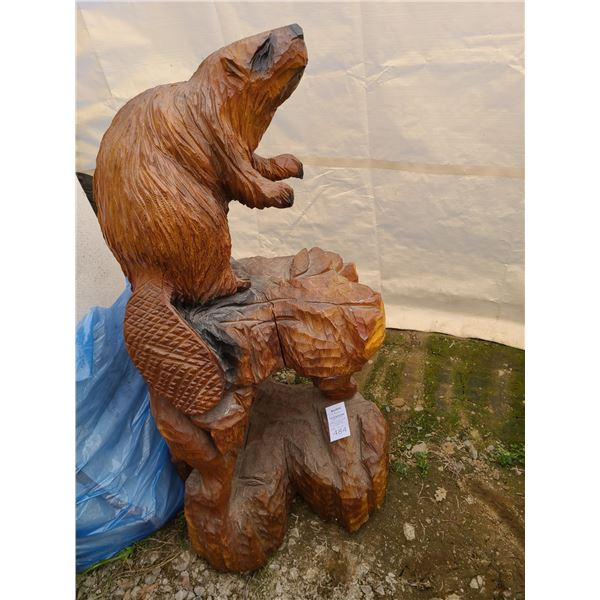 Carved Beaver Cat C