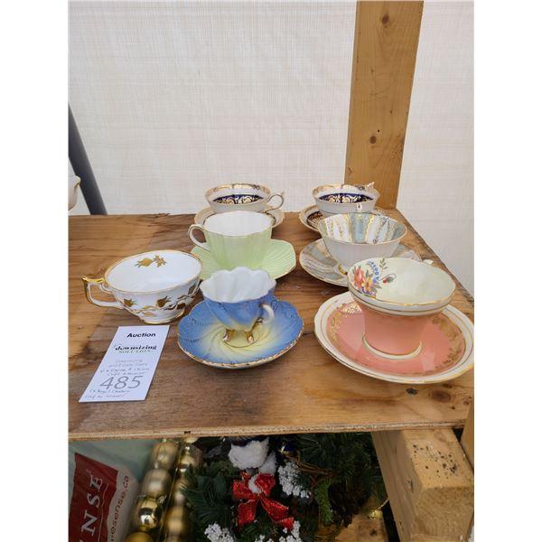 English China Tea Cups Cat A