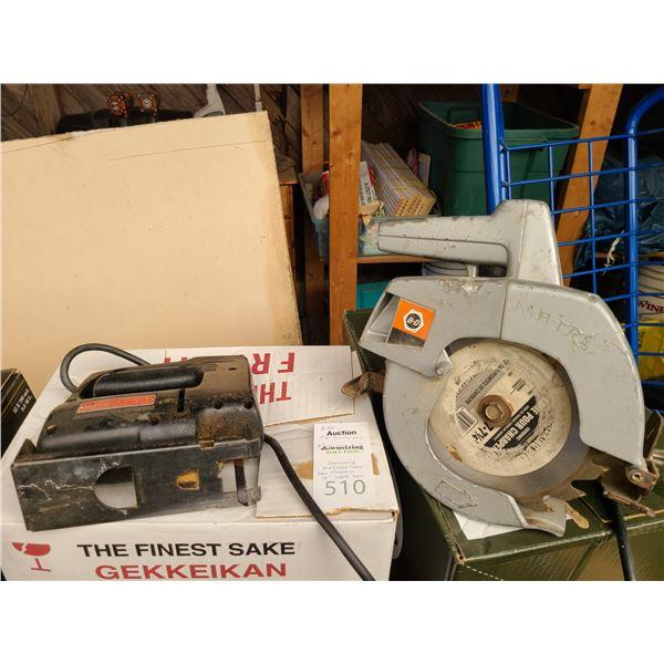 B&D Circular Saw & Sears Craftman Sabre Saw Cat B