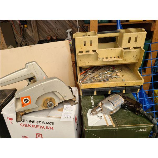 B&D Circular, Tool caddy and Drill Cat B