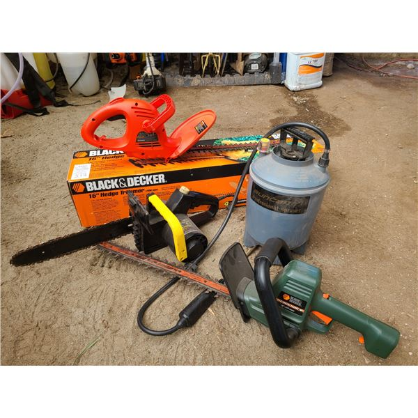 B&D Hedge trimmer WEN Chainsaw Cat B