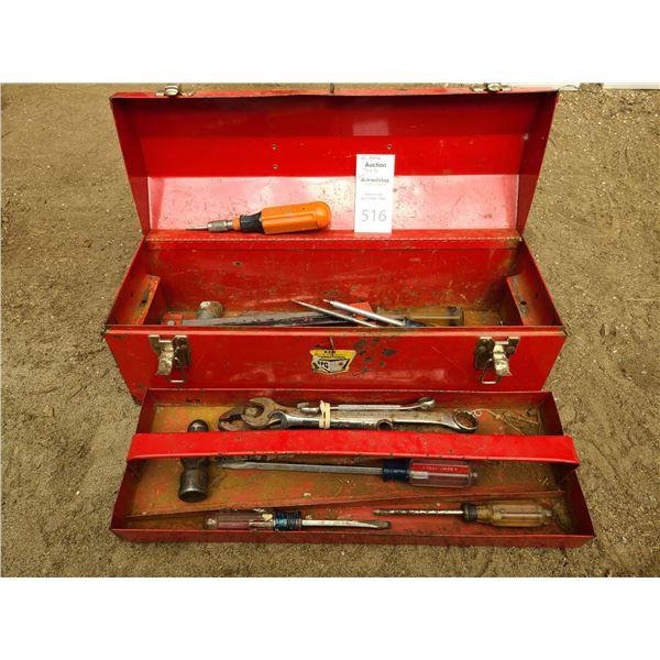 Metal Tool Box and Tools Cat B