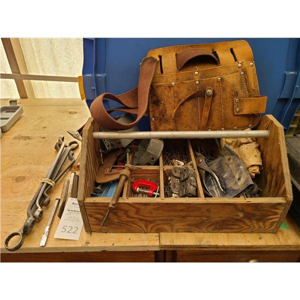 Wood Tool Caddy, Belt and more Cat B