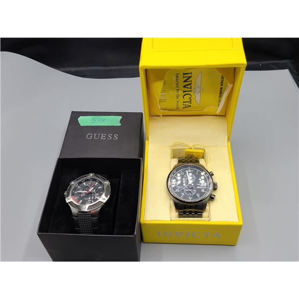 Invicta and Guess Men's Watches Cat A