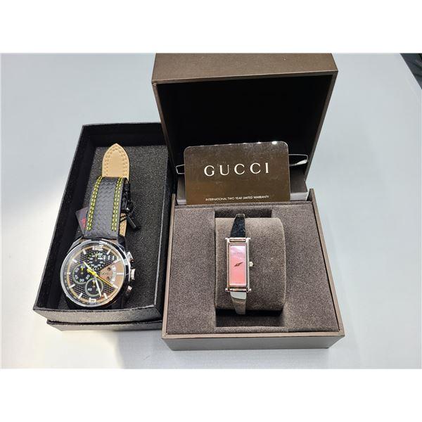 Ladies Gucci Watch & Men's Skmei Watch Cat A