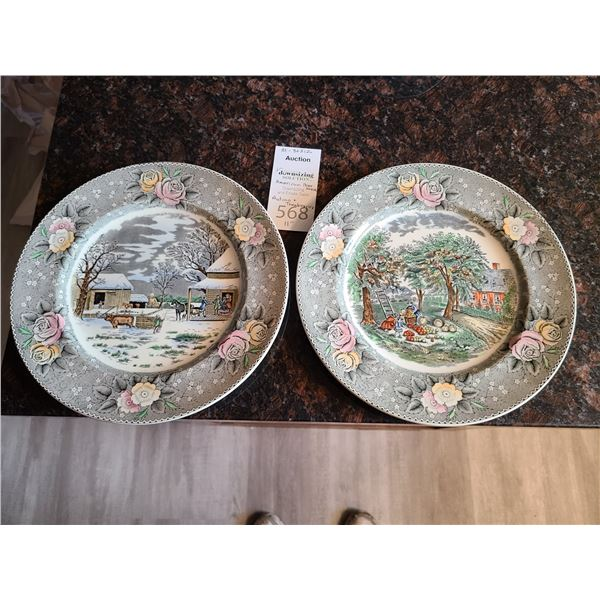 Adams American Homestead Plates Cat A