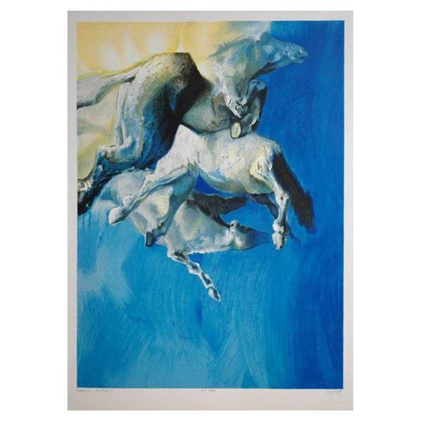 Wild Horses in Blue by Salomon, Edwin