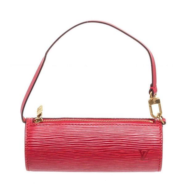 Louis Vuitton Red Epi Mini Papillon Wristlet Bag