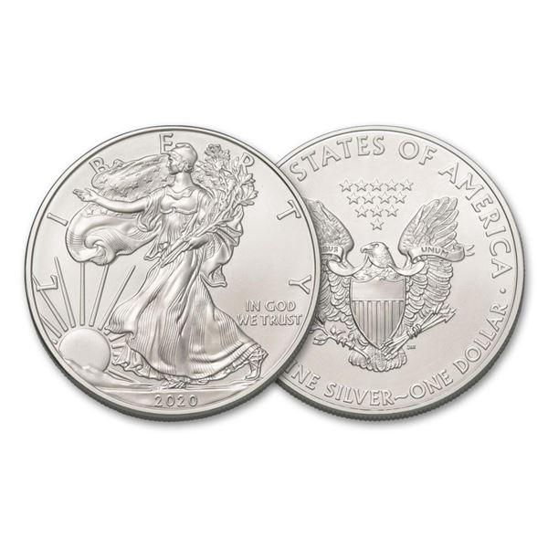 2020 American Silver Eagle .999 Fine Silver Dollar Coin