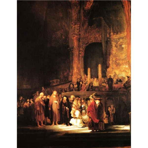 Rembrandt - Christ and the Adulteress