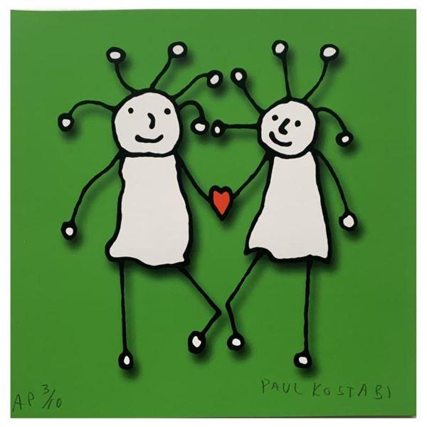 SPRKL Love (Green) by Kostabi, Paul