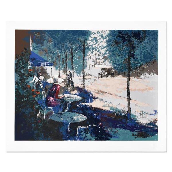 Sidewalk Cafe by Mark King (1931-2014)