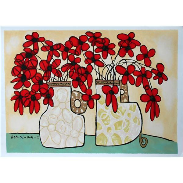 Avi Ben-Simhon Red Flowers