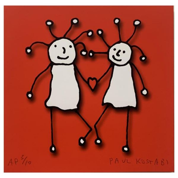 SPRKL Love (Red) by Kostabi, Paul