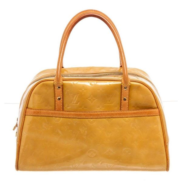Louis Vuitton Yellow Monogram Vernis Tompkins Handbag