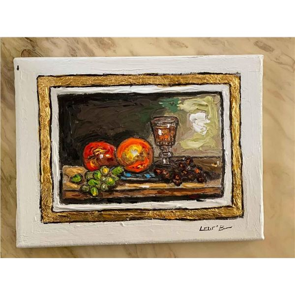 """Leslie Lew """"Still life with grapes"""""""