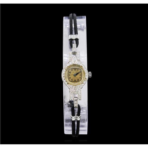 Waltham Platinum Diamond Vintage Ladies Watch