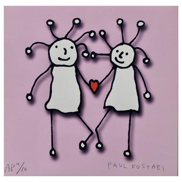 SPRKL Love (Pink) by Kostabi, Paul