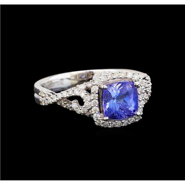 14KT White Gold 1.62 ctw Tanzanite and Diamond Ring