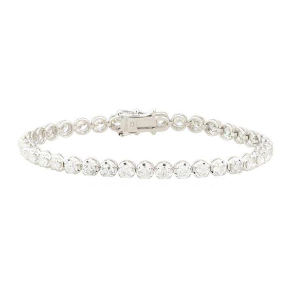 7.05 ctw Diamond Bracelet - 18KT White Gold