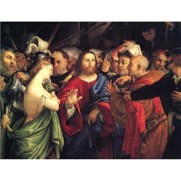 Lorenzo Lotto - Christ and the Adulteress