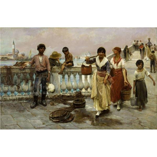 Frank Duveneck - Water Carriers, Venice