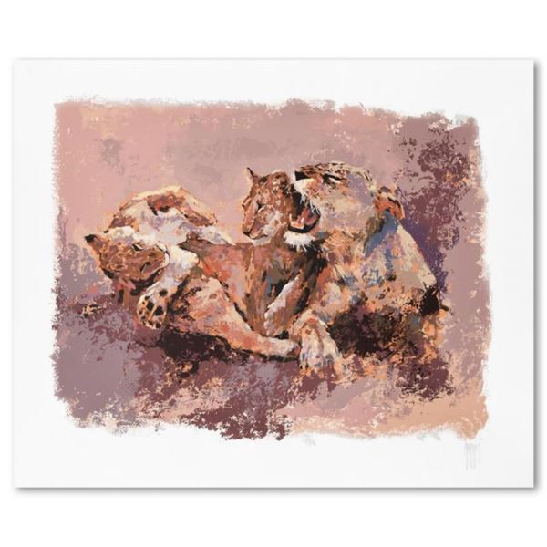 Lioness & Her Cubs by Mark King (1931-2014)