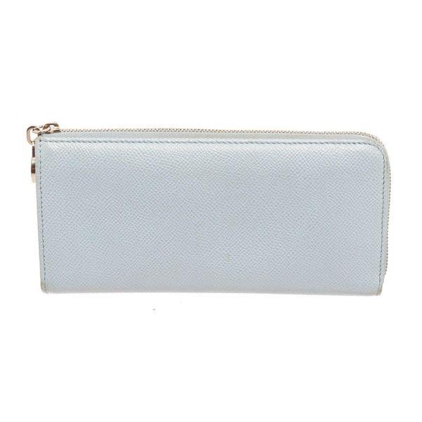 Bvlgari Light Blue Leather Zip Around Wallet