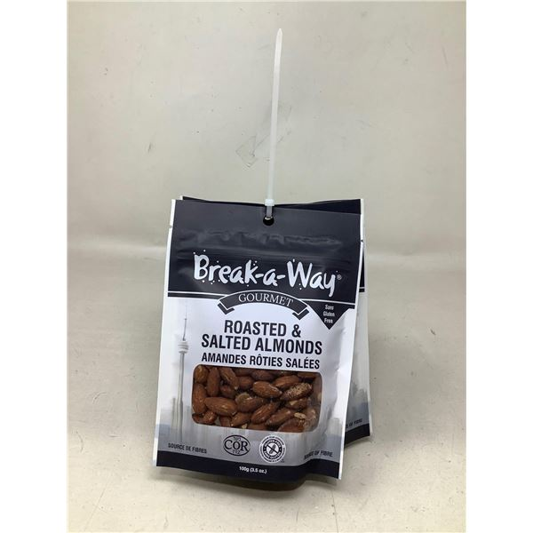 Break A Way Roasted & Salted Almonds (6 X 100G)