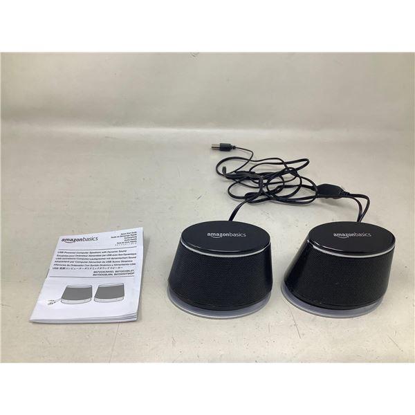 Amazon Basics USB Powered Computer Speakers W/ Dynamic Sound