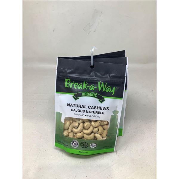 Break-a-Way Natural Cashew (6 X 90G)